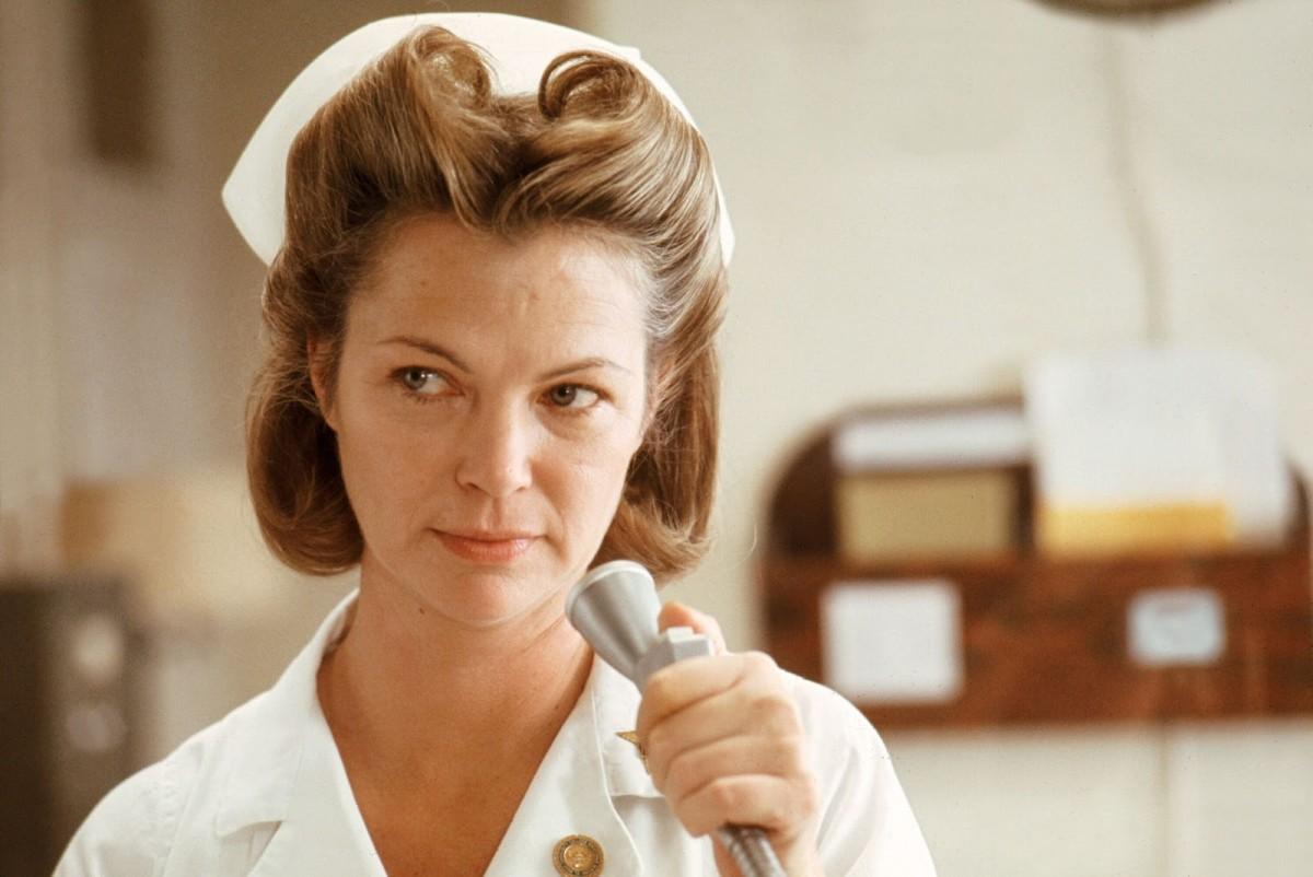 Louise Fletcher as Nurse Ratched.