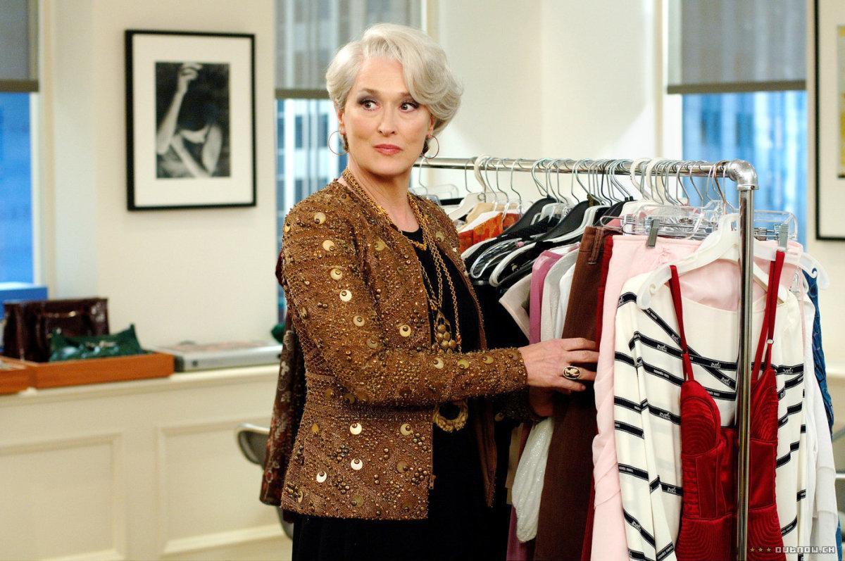 Meryl Streep as Miranda Priestly.