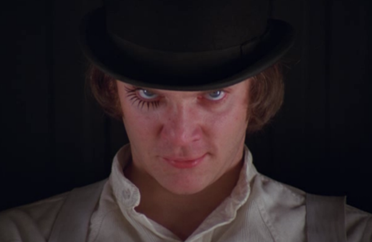 Malcolm McDowell as Alex DeLarge.