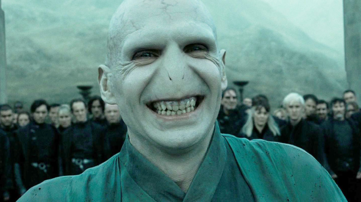 Ralph Fiennes as Lord Voldemort.