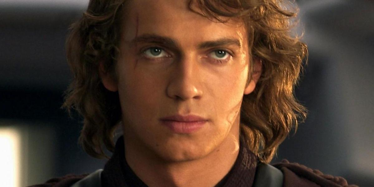 Hayden Christenson as Anakin Skywalker.