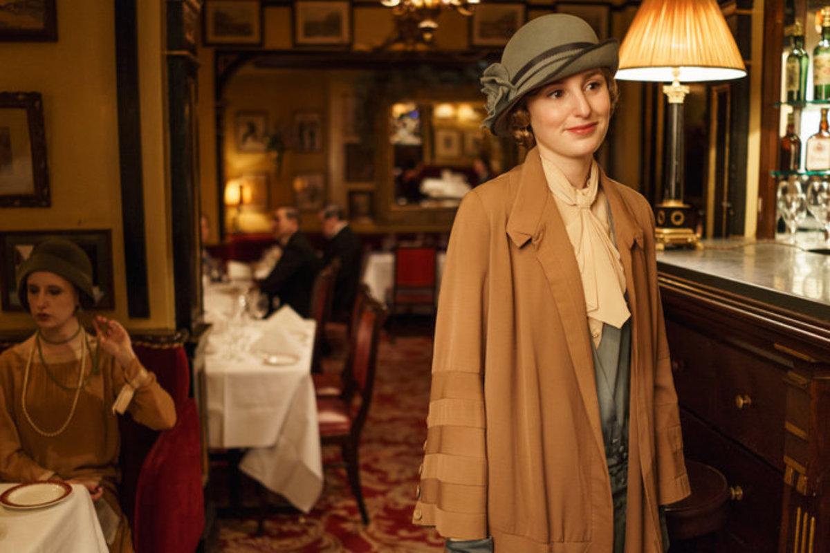 Laura Carmichael as Lady Edith Crawley.