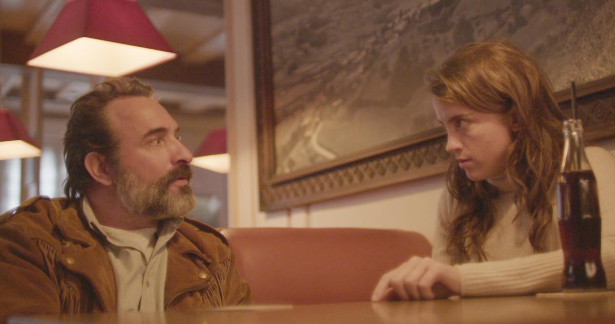 """Jean Dujardin and Adèle Haenel in, """"Deerskin."""""""