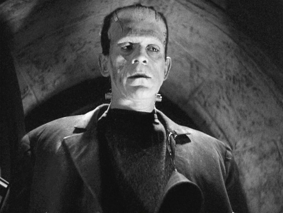Boris Karloff in Frankenstein.