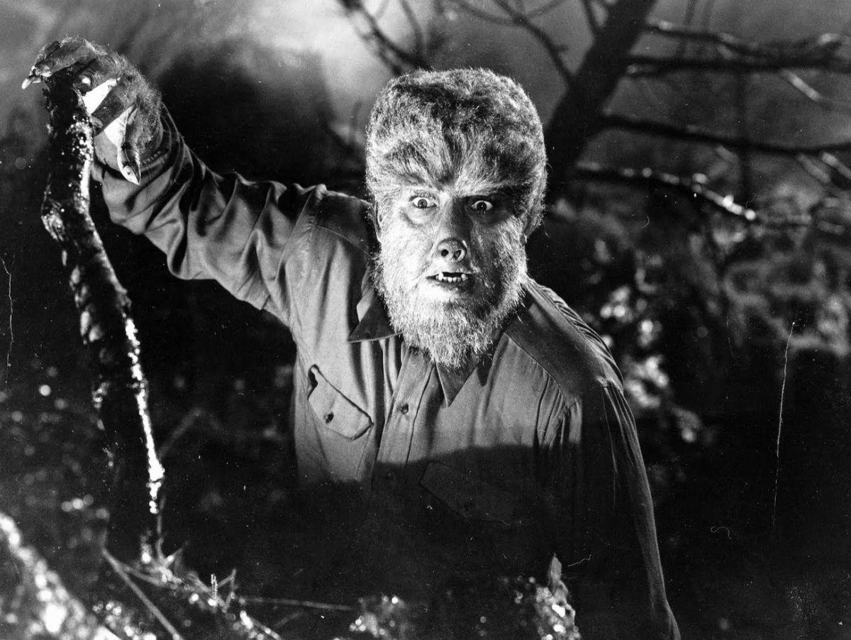 Lon Chaney Jr. as The Wolf Man.