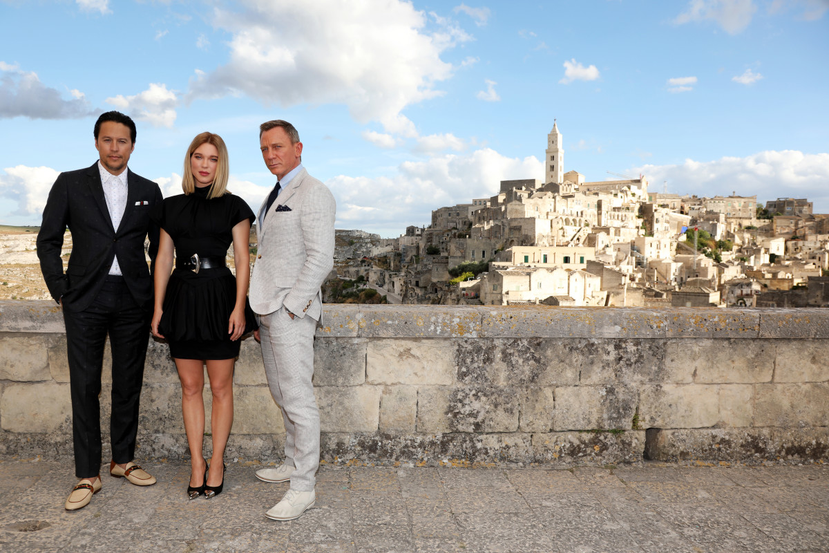 """""""No Time to Die"""" is the 25th 007 movie starring Daniel Craig and Léa Seydoux as the Bond Girl. They arrive in Matera, Italy, filming on location with director Cary Joji Fukunaga."""