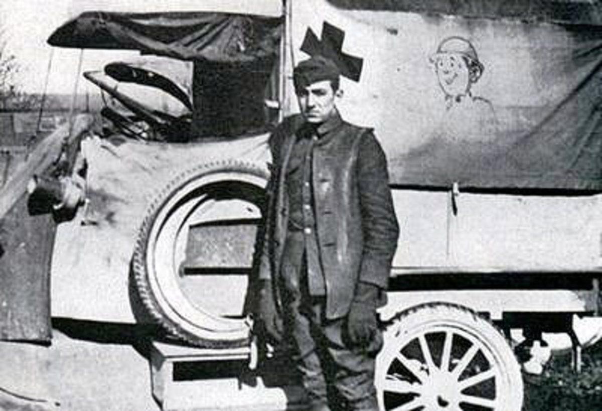 Walt Disney as Ambulance Driver