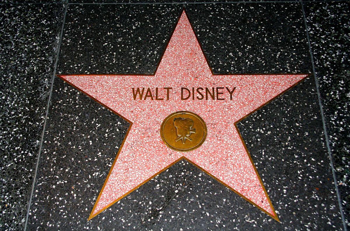 Walt Disney star on Hollywood walk of fame