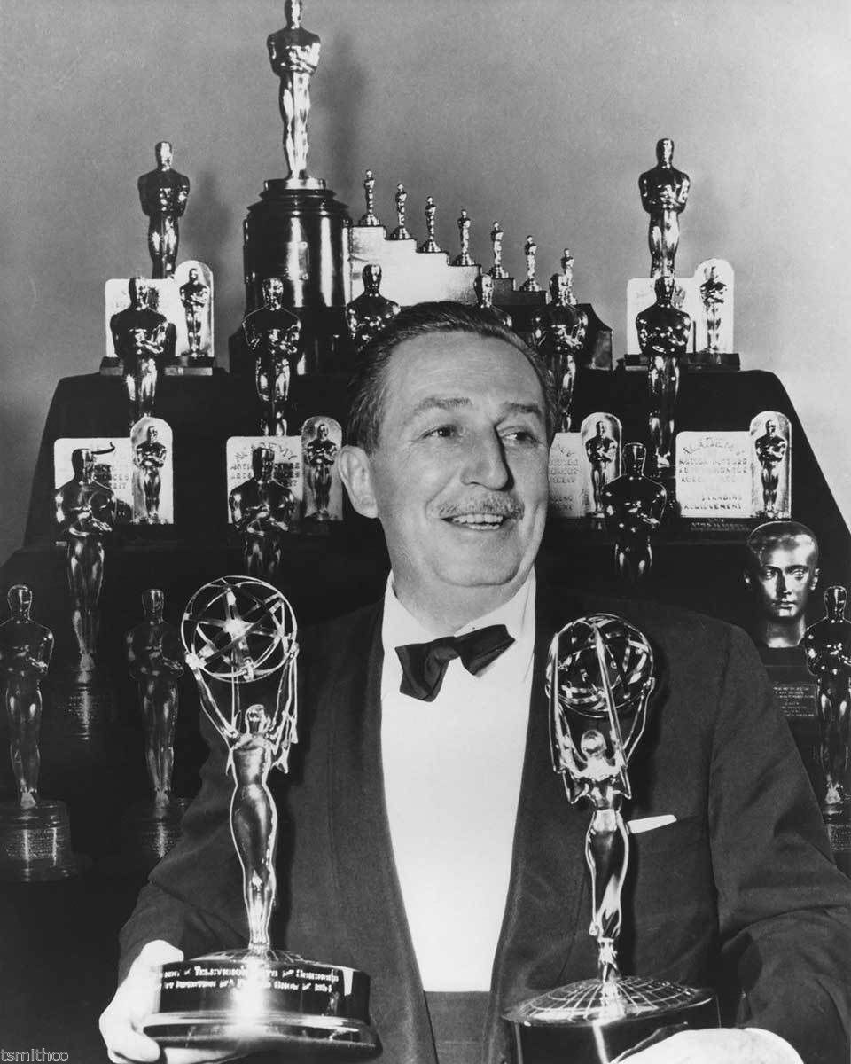 Walt Disney with all his awards