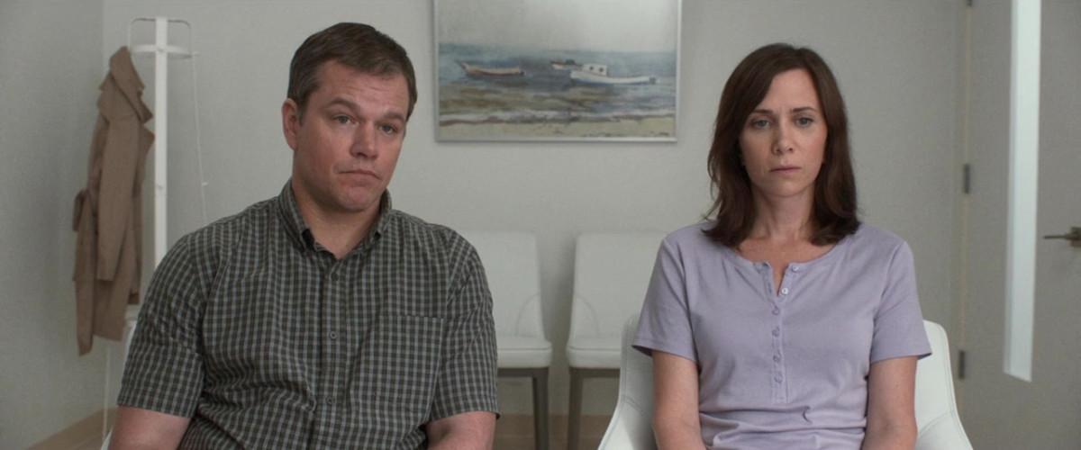Matt Damon and Kirstin Wiig as Paul and Audrey