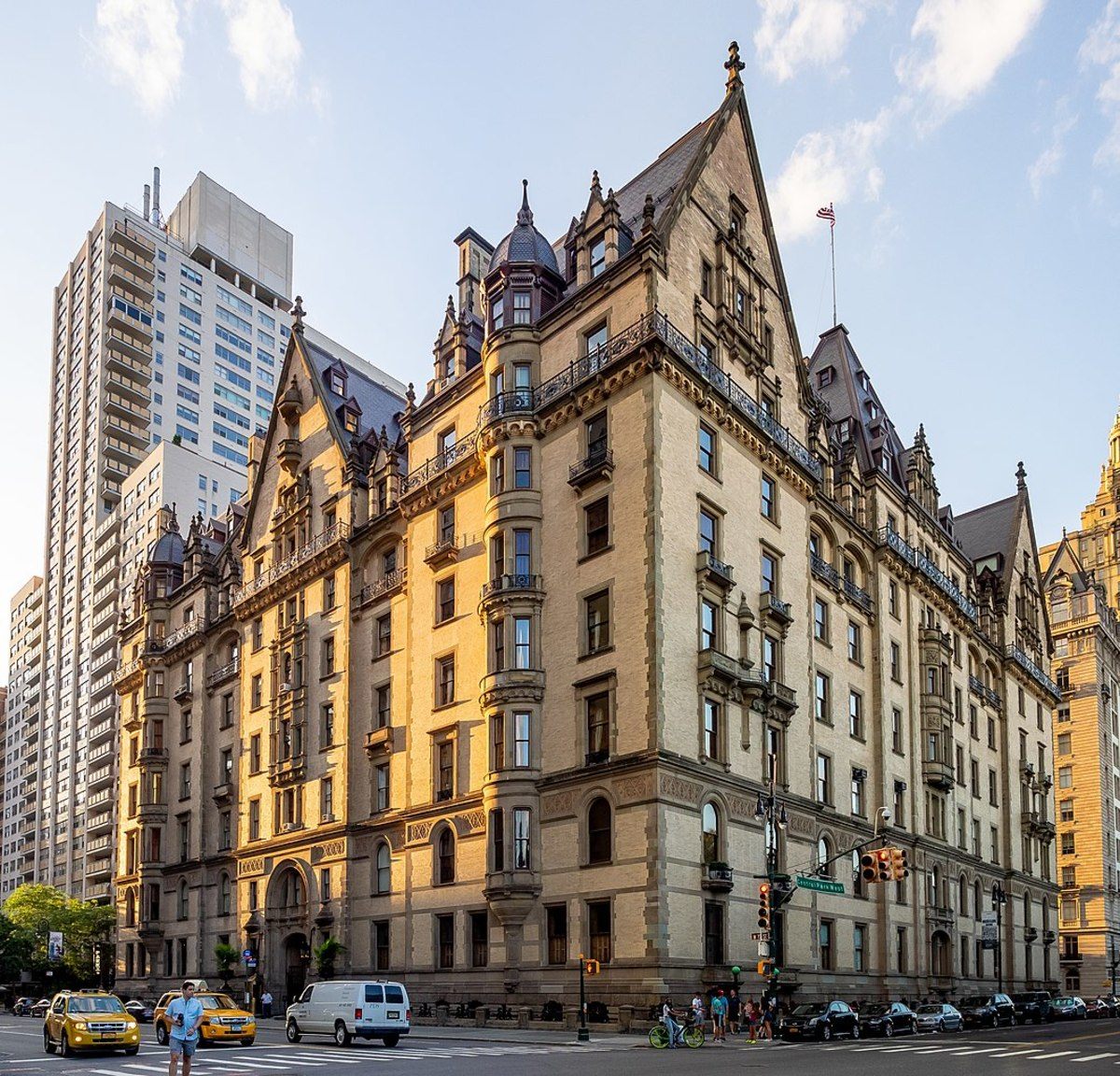 NYC's The Dakota, with its distinctive architectural features, was the perfect backdrop for the creepy The Bramford in Rosemary's Baby.