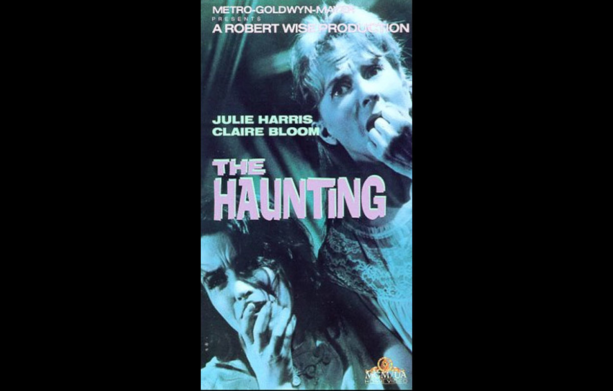 Theatrical poster for The Haunting, one of the most critically acclaimed haunted house horror movies.