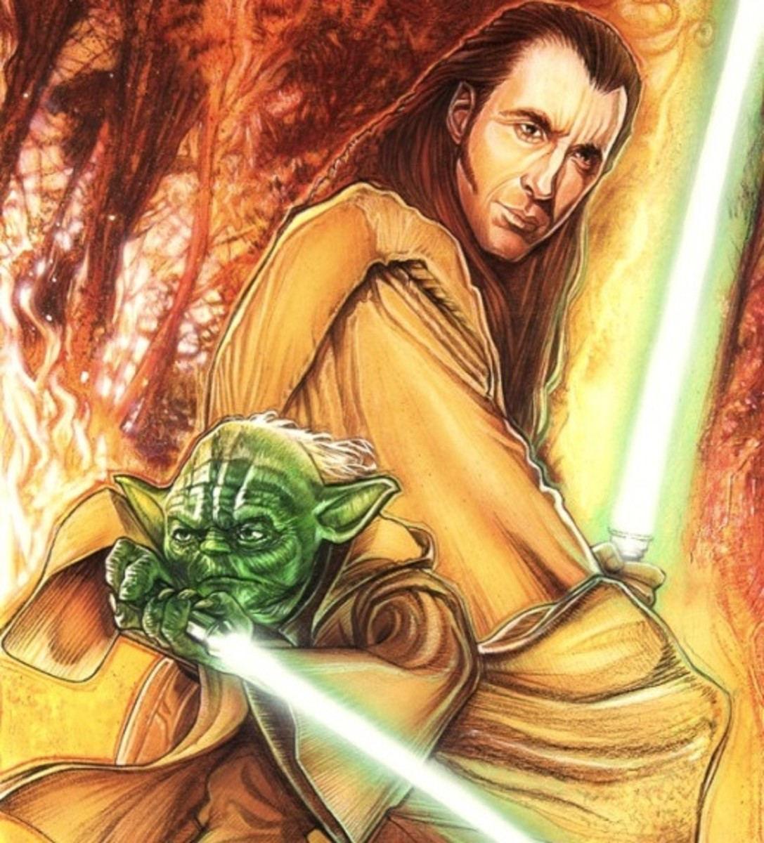 Yoda with young Count Dooku