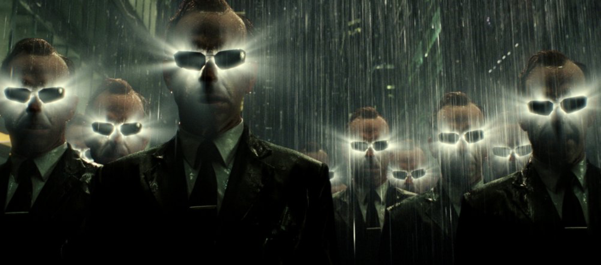 After vanquishing Neo (winning), Agent Smith and his copies no longer have a reason to exist.  As a result, they explode and vanish.