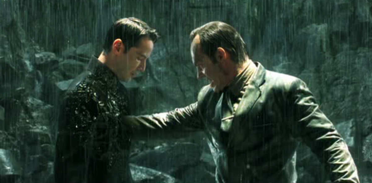 When Neo allows Smith to kill him, Neo tricks Agent Smith and causes Smith's destruction.