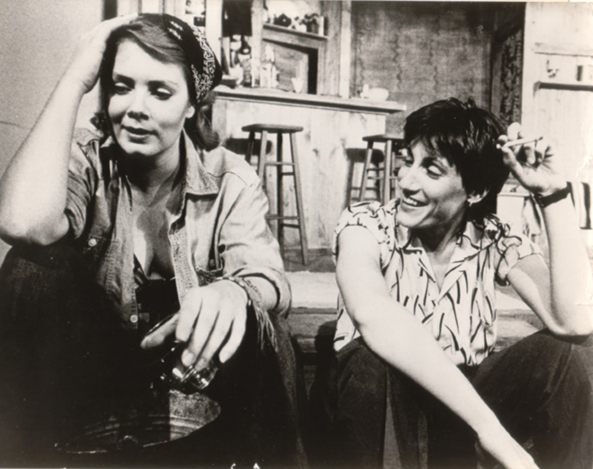 "Jean Smart & Carolyn Cope in the controversial, lesbian themed play, ""The Children's Hour,"" by Lillian Helman."