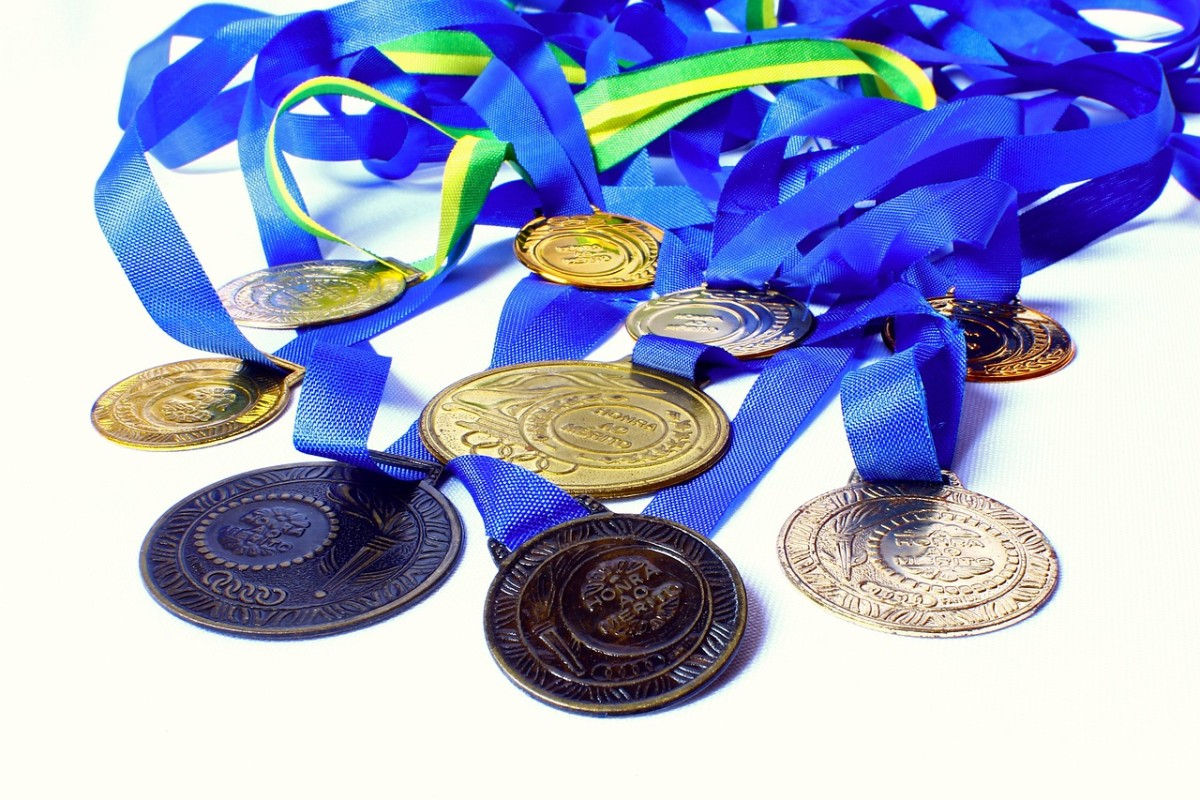 I'm broke so have a picture of medals.