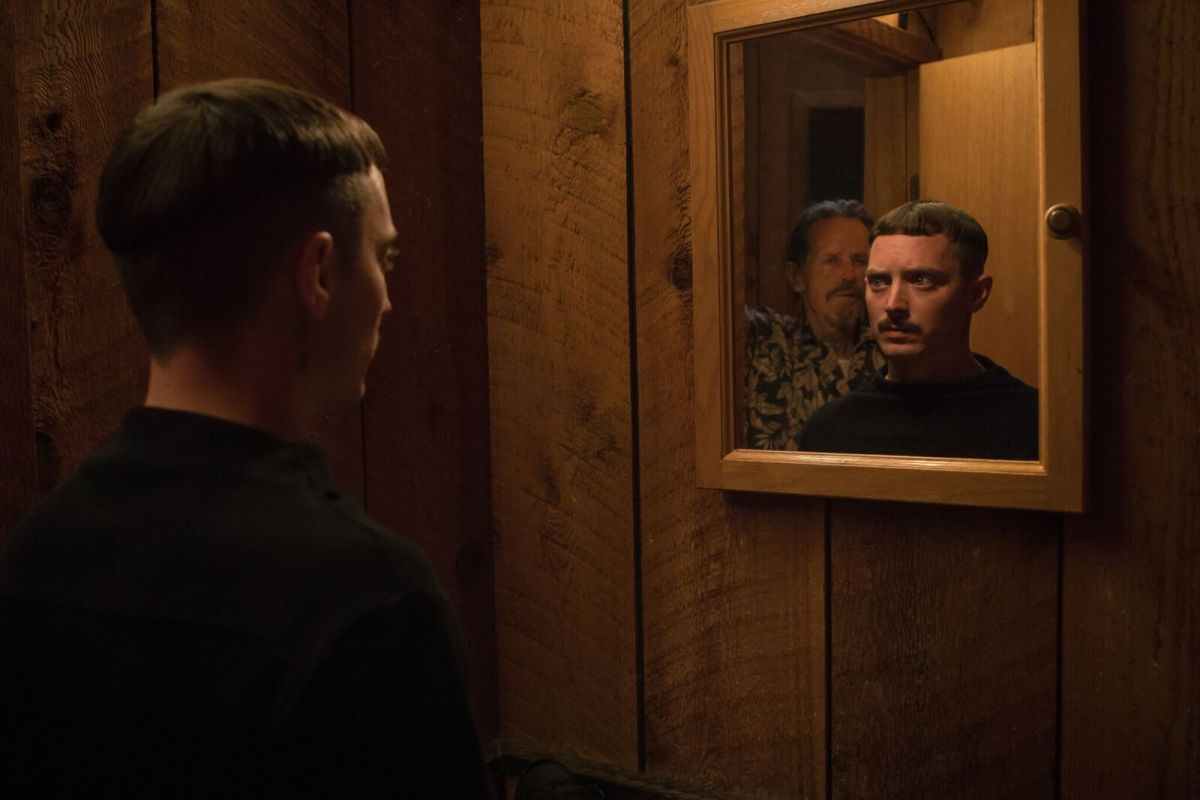 "Stephen McHattie and Elijah Wood in, ""Come to Daddy."""
