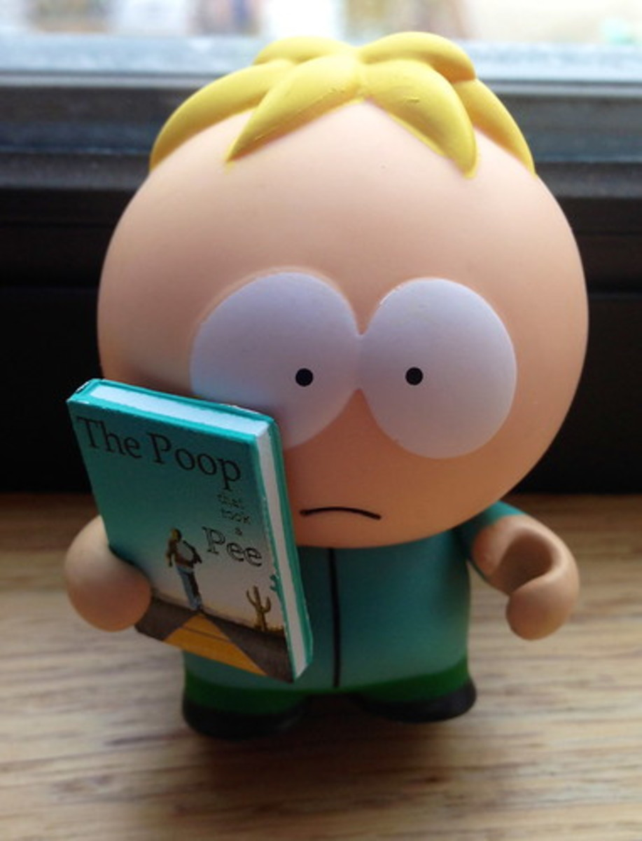 Butters is the righteous American, his family the self righteous American. But Butters is sincere and is destroyed by the rest of the gang who are unconcerned and selfish.
