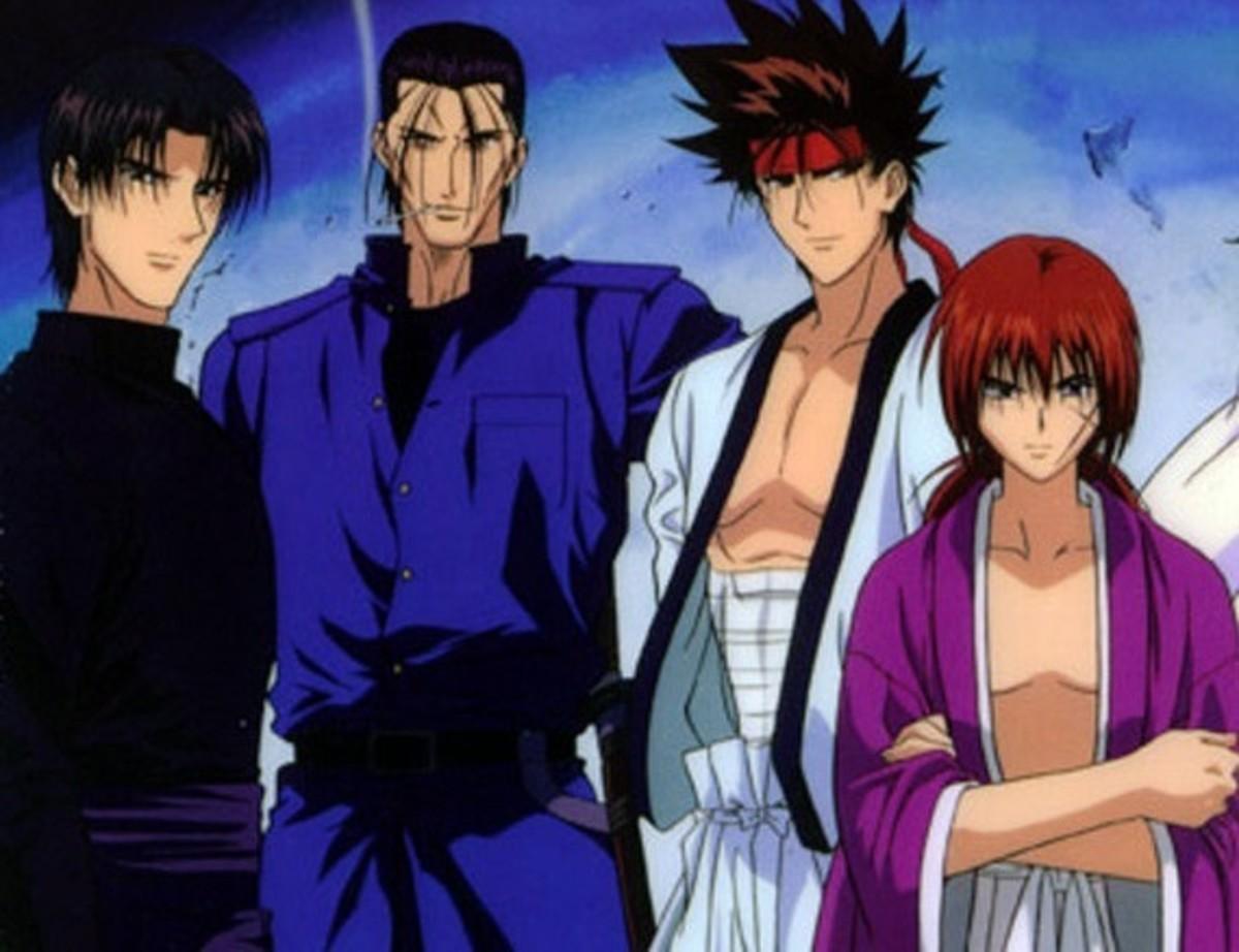 Aoshi, Saito, Sano, and Kenshin