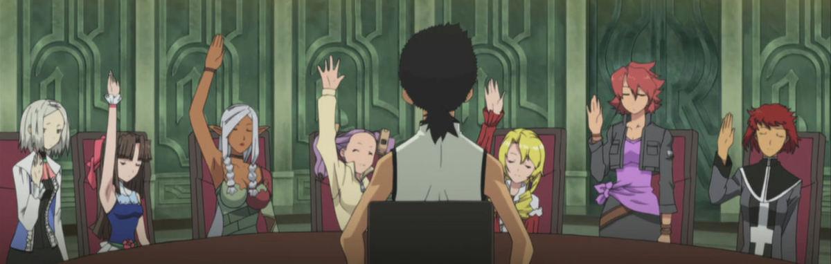 2009-10's 'Isekai no Seikishi Monogatari', a Tenchi Muyo spinoff that's a harem and fantasy isekai.