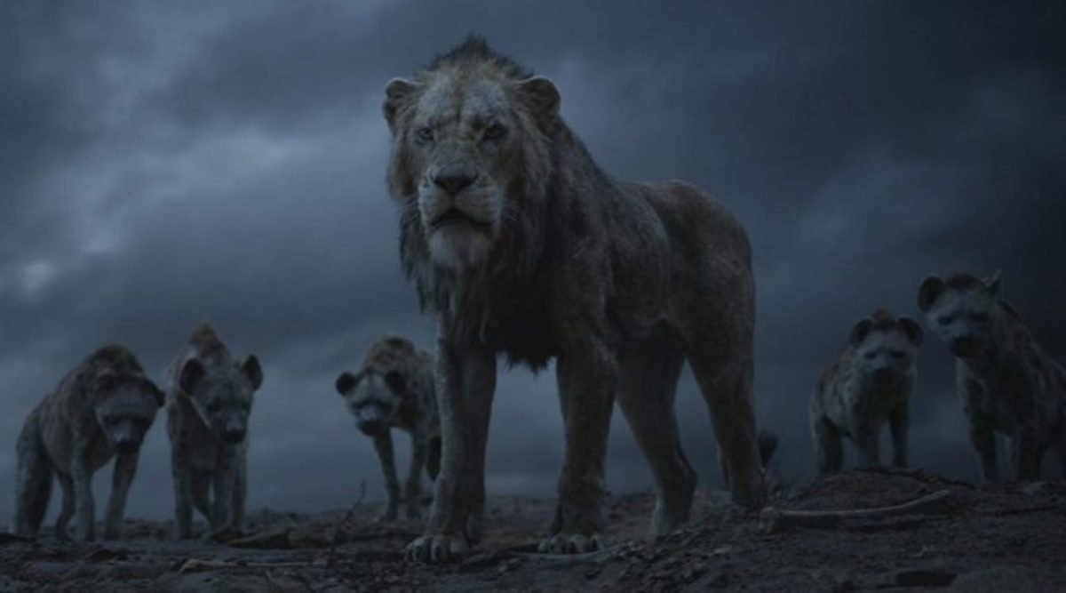 Scar and the hyenas (live action)