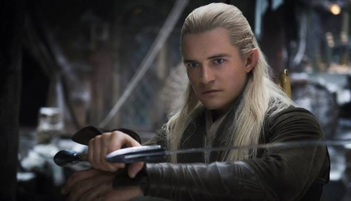 Ironically, an older Orlando Bloom played a younger Legolas in this film.