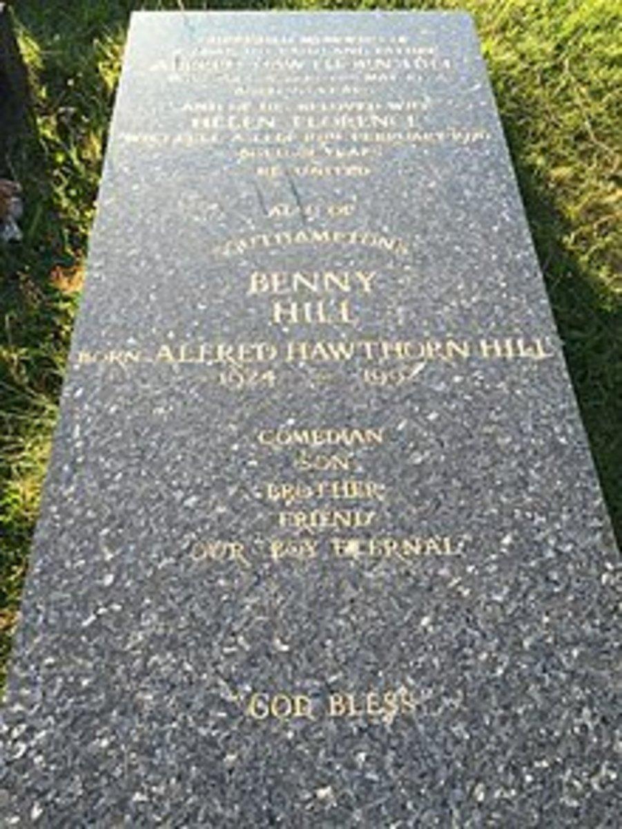 Benny Hill grave marker