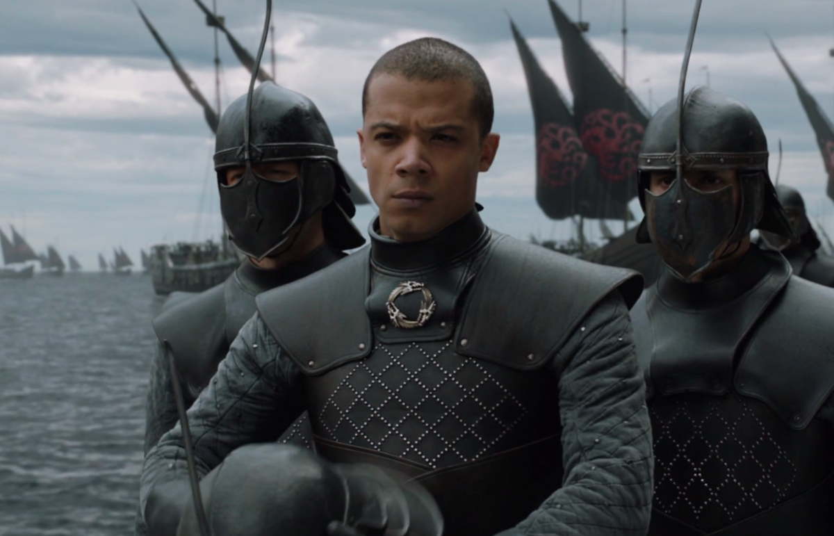 "Jacob Anderson as HBO's Grey Worm in ""Game of Thrones"""