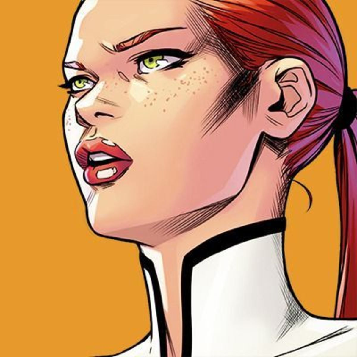 Lana as she appeared in the comics.
