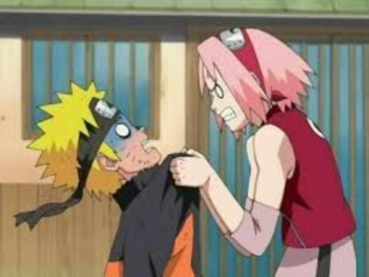Sakura being angry at Naruto