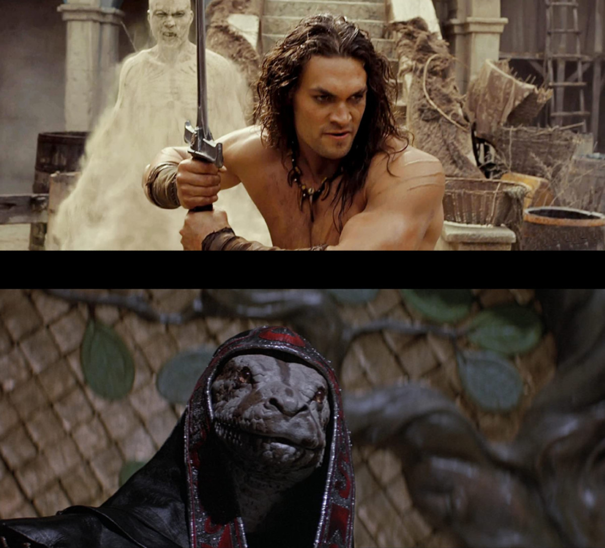 1982 had James Earl Jones transform into a snake man. 2011 gave us sand men... I wonder which one had the better imagination.