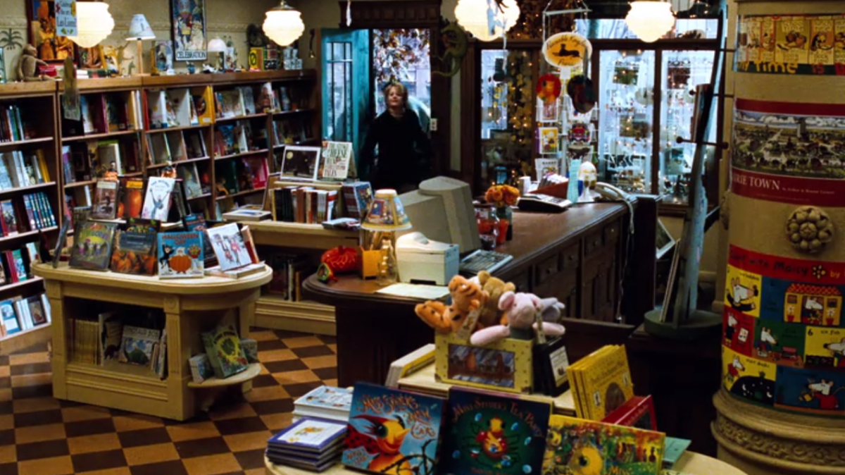 Kathleen's beautiful bookstore, The Shop Around the Corner, from You've Got Mail