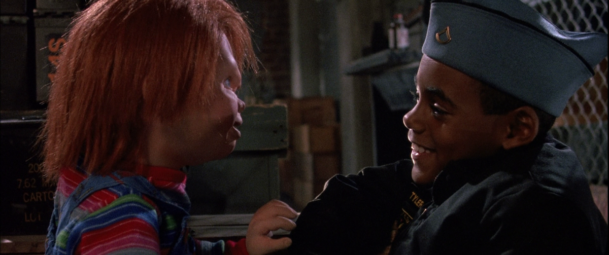"Chucky in ""Child's Play 3"" plays with his new playmate."