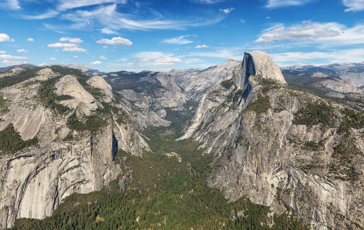 The Yosemite valley.