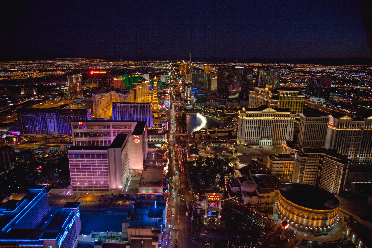 A view of the Las Vegas strip.