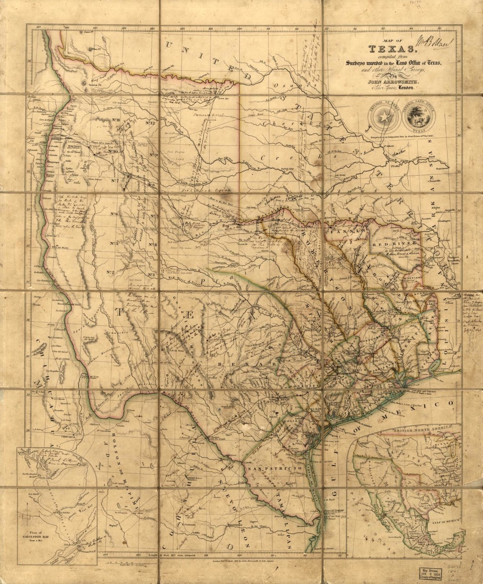 Map of Republic of Texas.