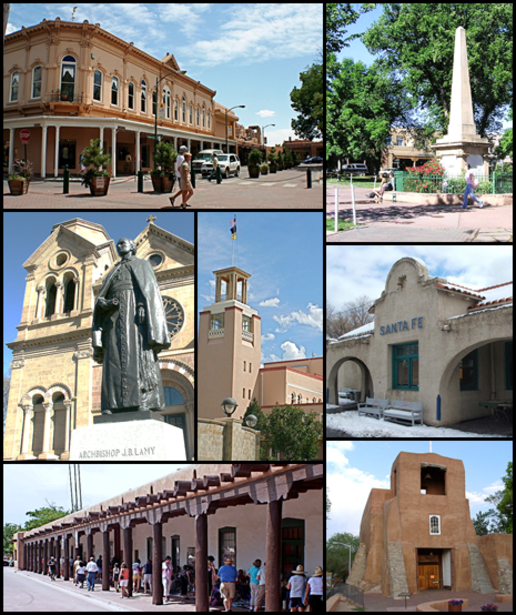 A montage of downtown Santa Fe.