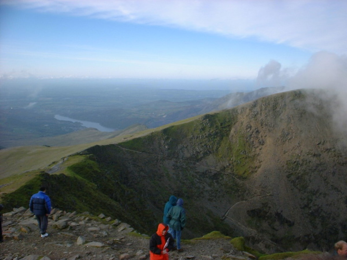 View from Mount Snowdon.