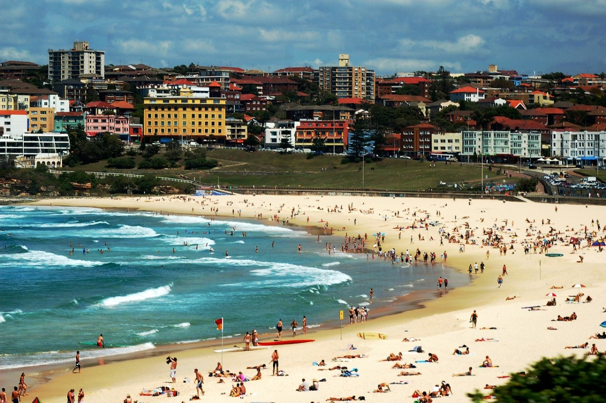 The famous Bondi Beach....