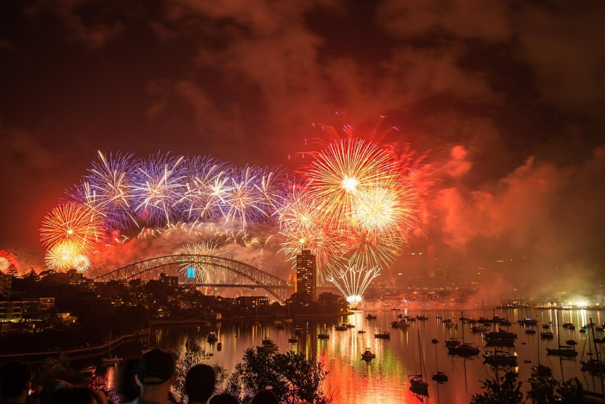 Sydney's New Year fireworks are world famous - if you want to see them, you'll need to book your hotel a year ahead!
