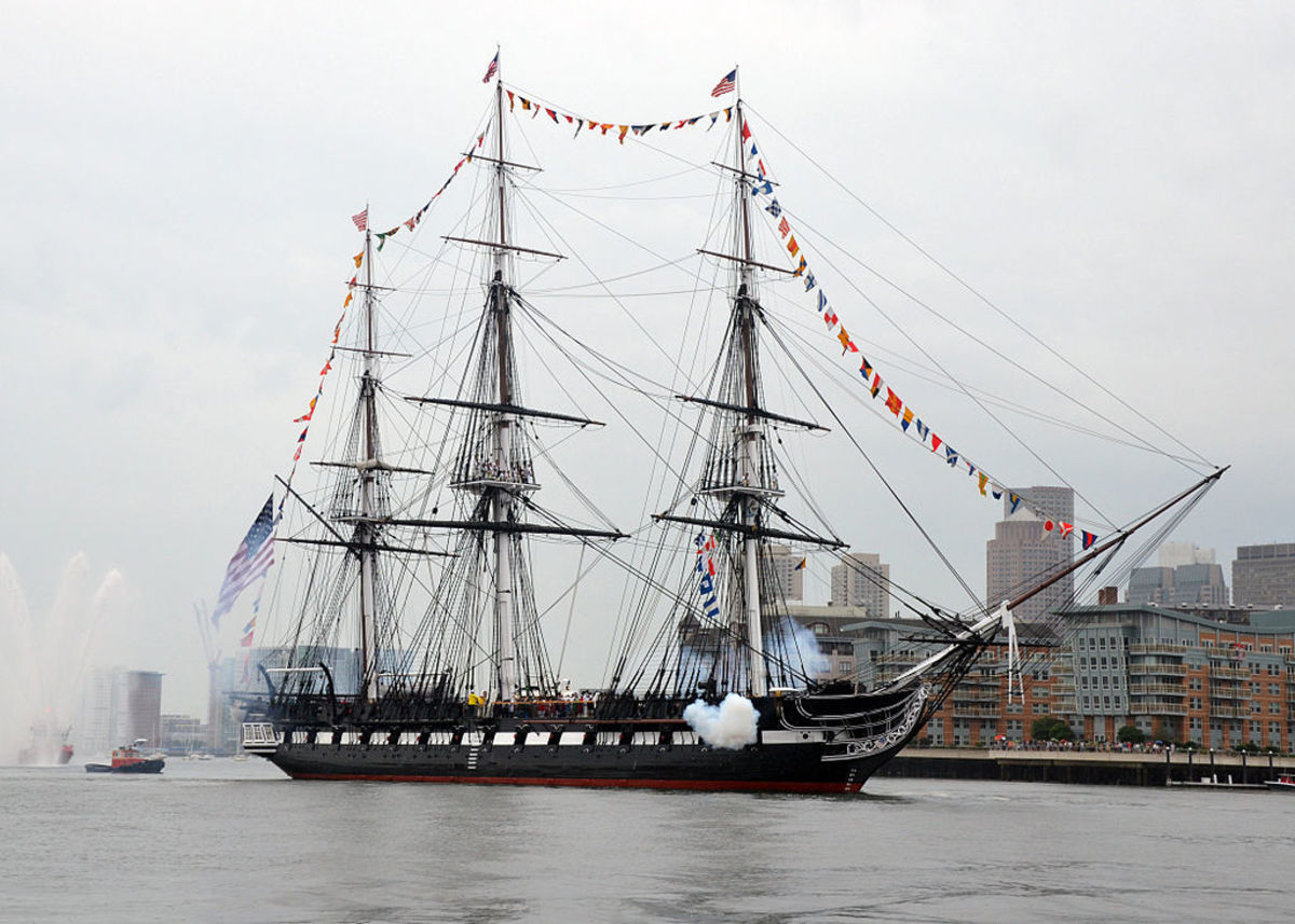 USS Constitution is the oldest ship in the American Fleet and is ready for you to board and inspect at the Charlestown Navy Yard.