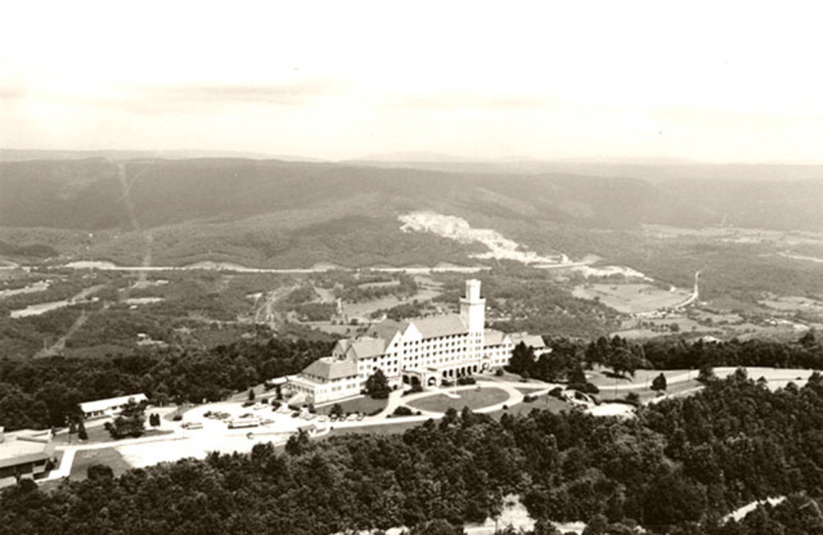 Carter's Lookout Mountain Hotel or the Castle In The Clouds. It is now a residence hall for students of Covenant College, Georgia and called Carter Hall.