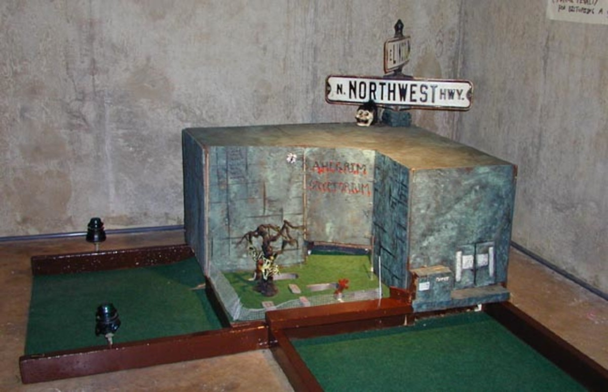 Funeral Home Basement Mini Golf