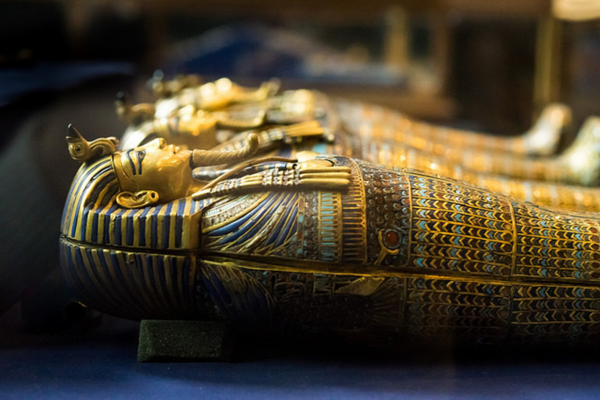 This activity center features Egyptian influences based on King Tut.