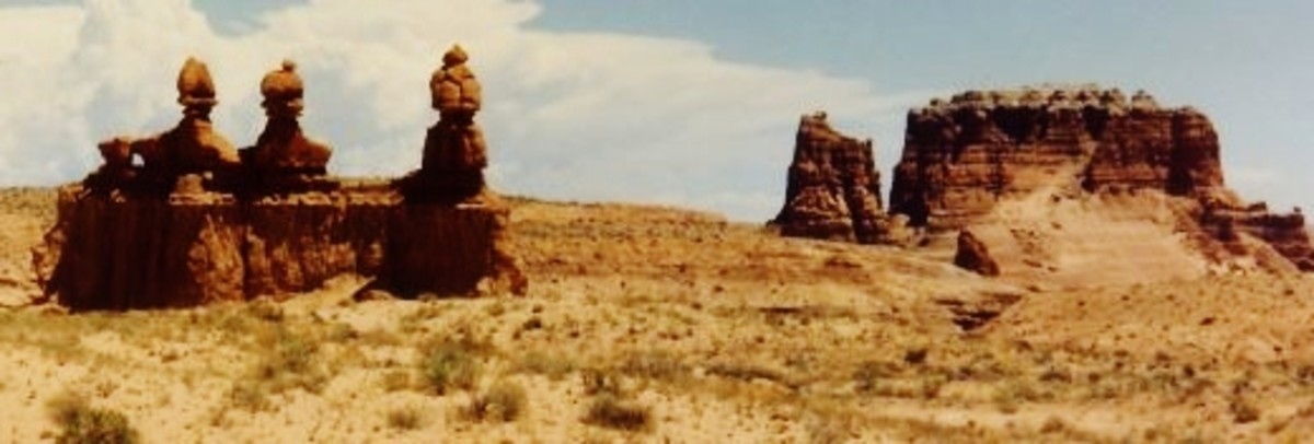 The Three Sisters at the Goblin Valley State Park