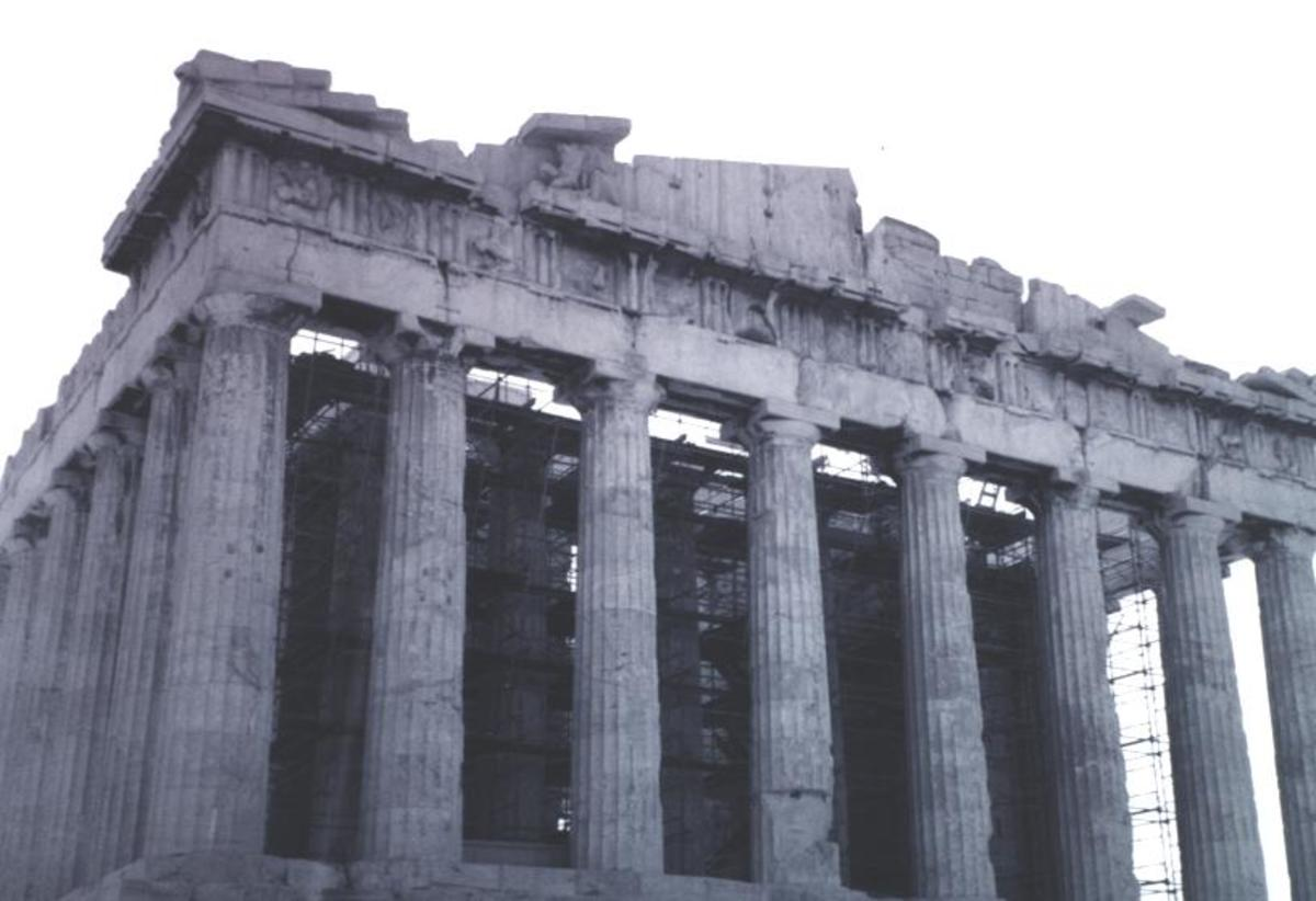 Close-up of the Parthenon