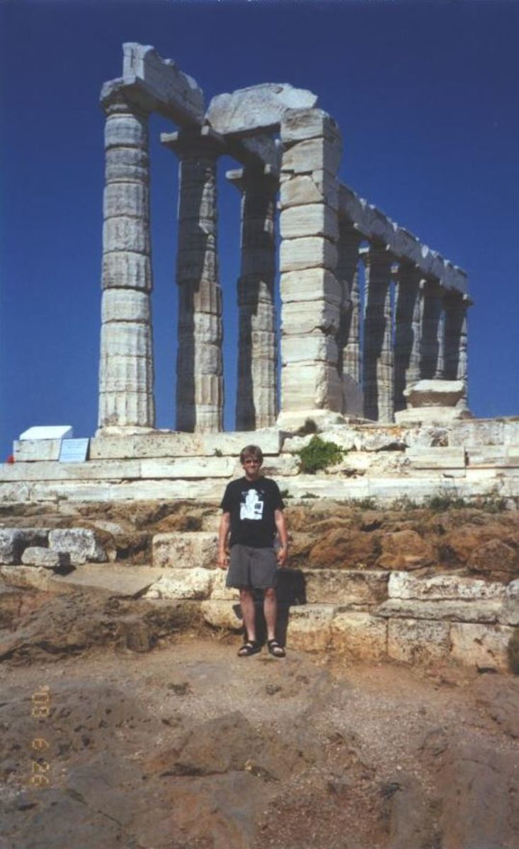 The Temple of Poseidon at Cape Sounion