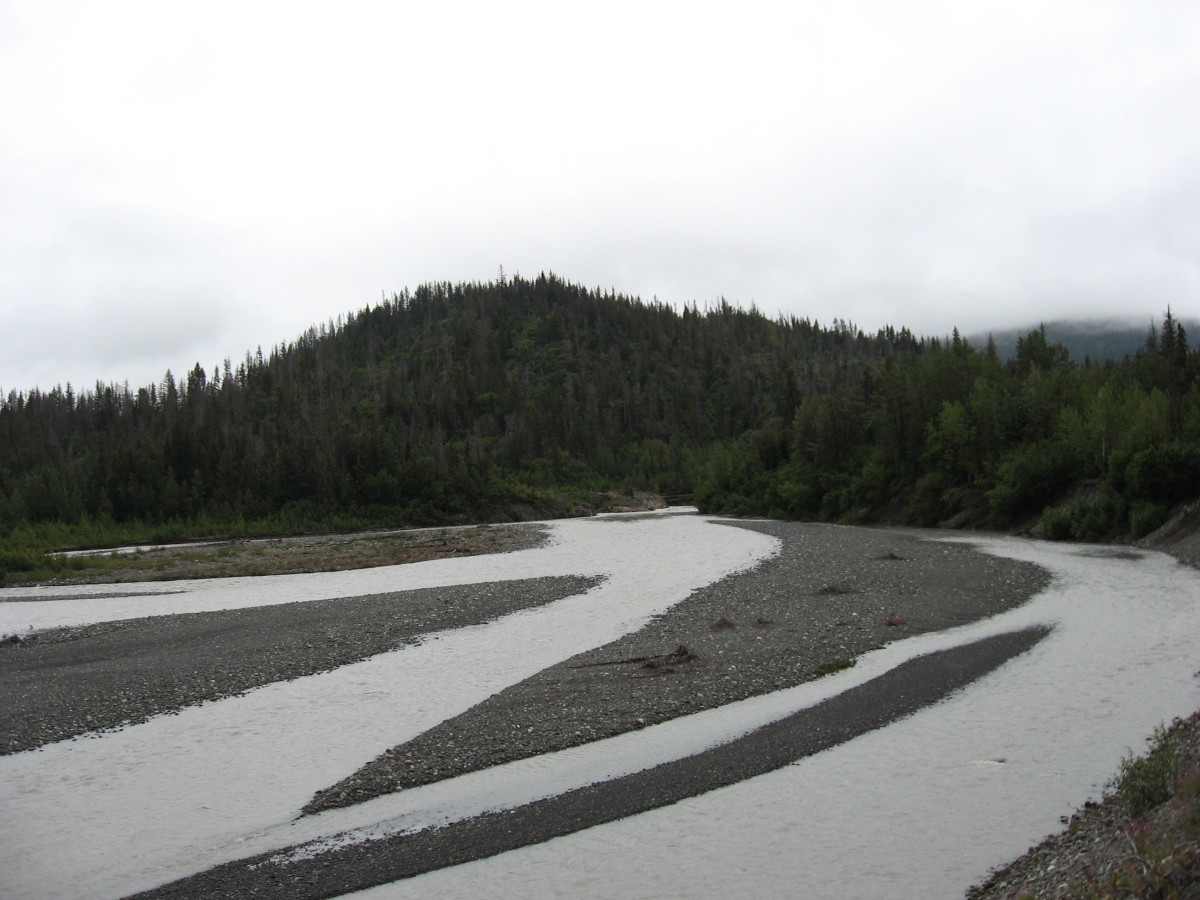 My favorite picture of a glacial stream.