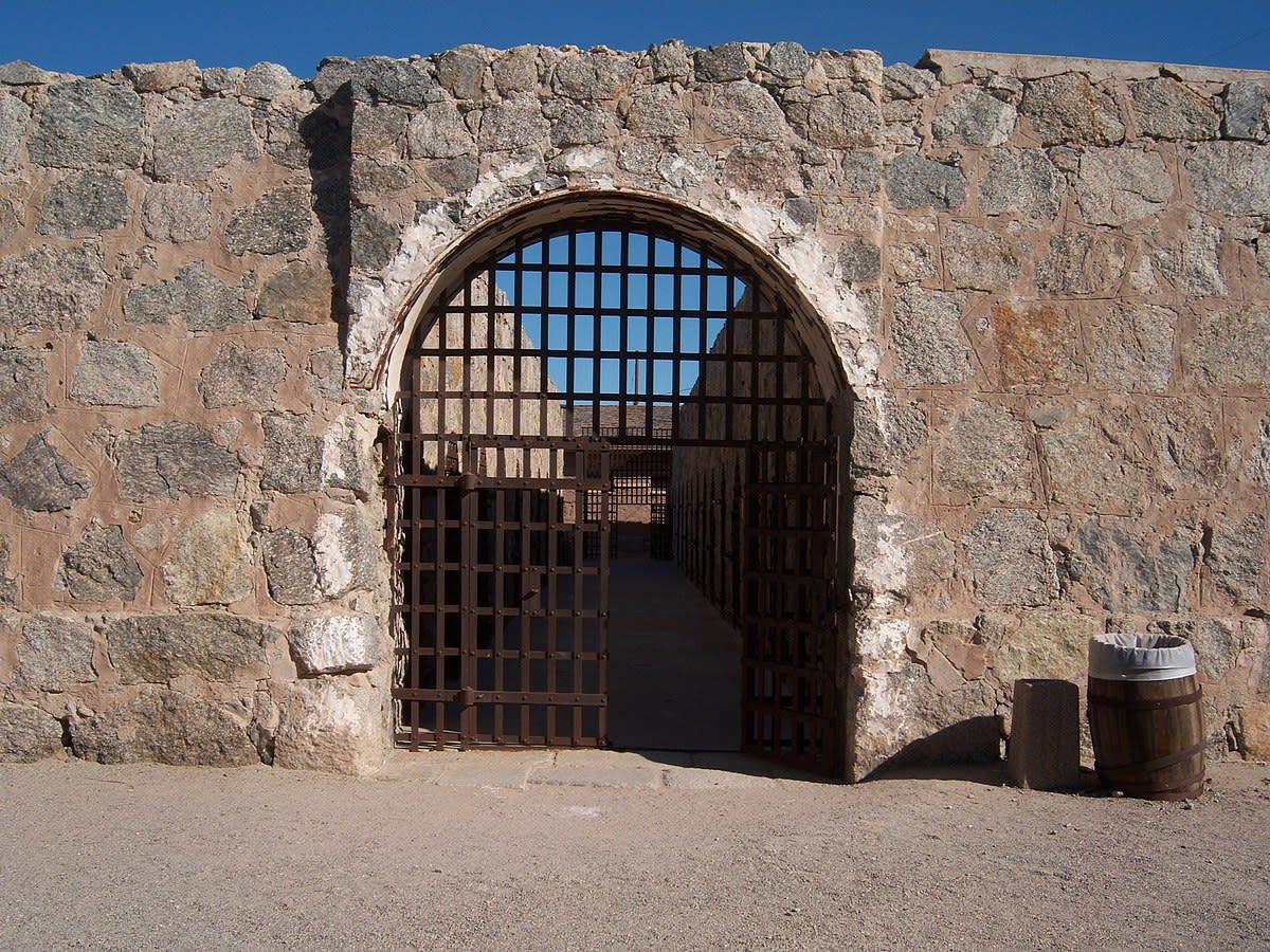 Main block cell from Yuma Territorial Prison in Yuma, Arizona
